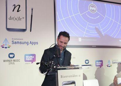 Jorge Drexler en la presentación de su nueva 'app', 'n'.