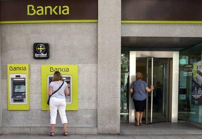 Una oficina de Bankia en el centro de Madrid