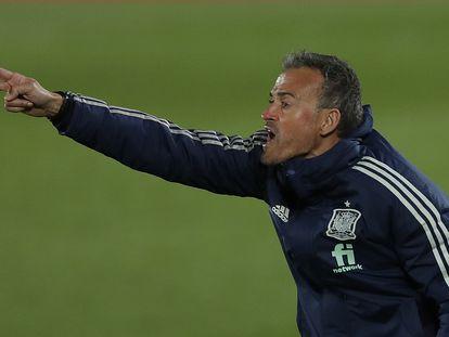Luis Enrique, este sábado en el Alfredo Di Stéfano en el partido entre España y Suiza.