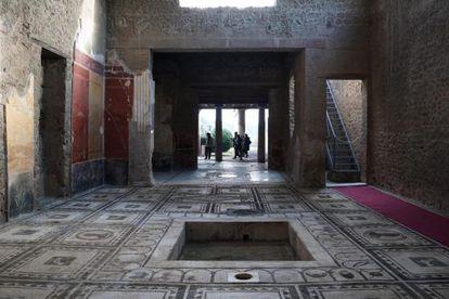 Vista de la 'domus' Paquius Proculus, una de las casas reconstruidas en Pompeya.