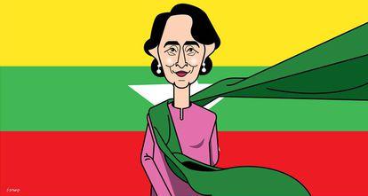 Aung San Suu Kyi, símbolo de la lucha democrática en Myanmar