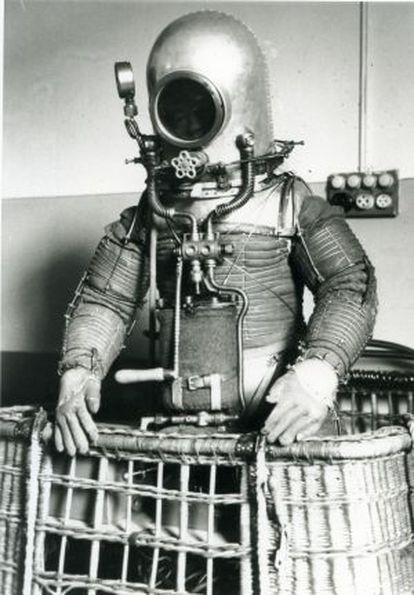 Prototipo del traje espacial de Herrera. Foto cedida por Emilio Atienza.