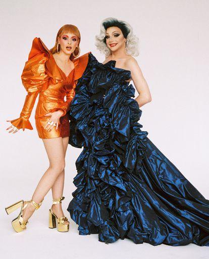 Ana Locking viste de Ana Locking y Supremme de Luxe luce vestidos It-Spain y zapatos Franjul.