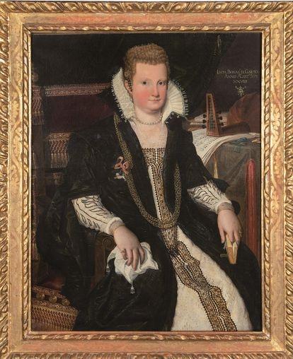 El retrato de Lucia Bonasoni di Garzoni de Lavinia Fontana que va a ser subastado en Segre, en Madrid.