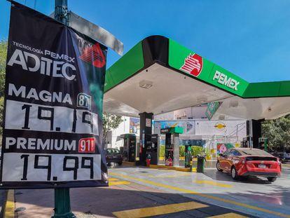 Una gasolinera de la franquicia de Pemex, en marzo.