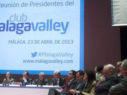 La ministra de Fomento, Ana Pastor, preside el foro del club Málaga Valley sobre innovación e infraestructuras ferroviarias.