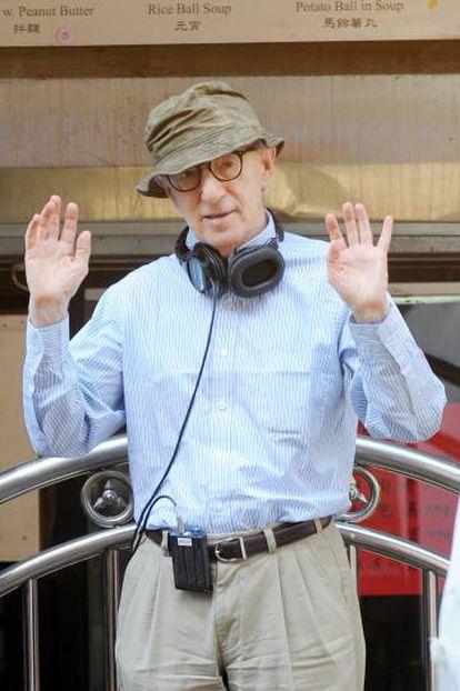 Woody Allen, en septiembre del año pasado, en el rodaje de la comedia en Nueva York.