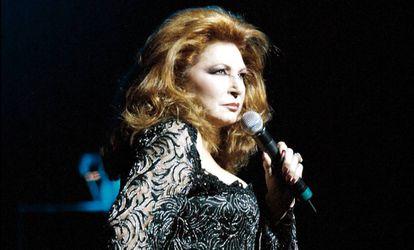 Rocío Jurado, en un concierto en Miami en febrero de 2004.