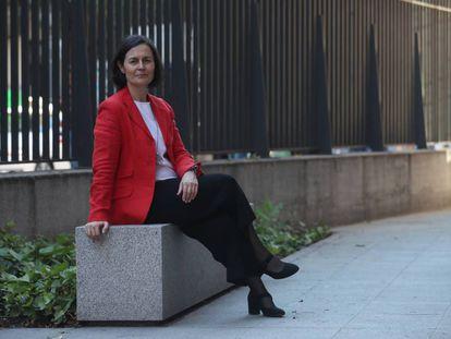 Belén Hermida en una imagen de mayo, durante su campaña para las elecciones al Decanato del Colegio Oficial de Arquitectos (COAM).