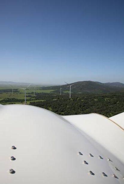 Parque eólico Pedregoso y Pino, gestionado por Audax.