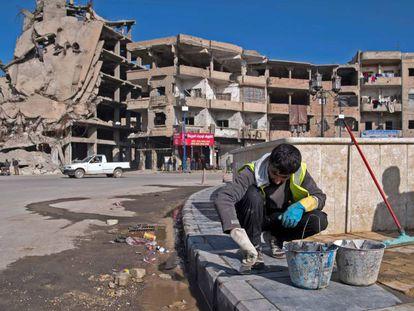 Edificios destruidos en Raqa, que fue la 'capital' del ISIS en Siria.