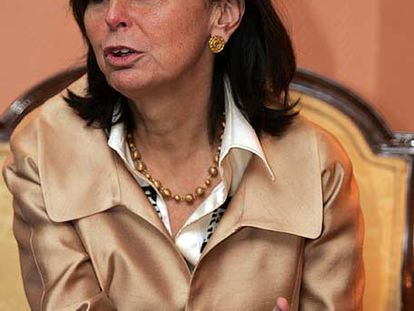 La presidenta del Constitucional, María Emilia Casas.