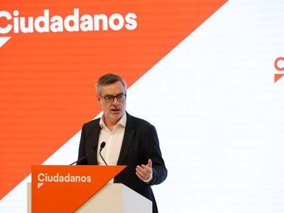 José Manuel Villegas, el lunes en una rueda de prensa.