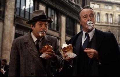 Marcello Mastroianni y Jack Lemmon, en 'Maccheroni'.