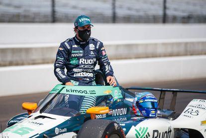 Fernando Alonso, en el circuito de Indianápolis.
