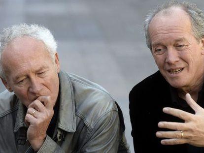 Los hermanos Jean-Pierre y Luc Dardenne, hoy sábado en Valladolid.