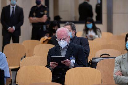 Teddy Bautista, durante el juicio por la compra de los teatros Lope de Vega y Coliseum, en septiembre de 2020 en Madrid.