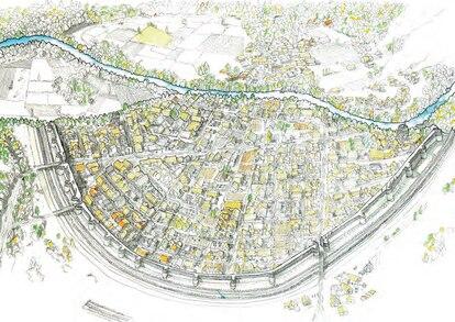 Reconstrucción ideal de la ciudad de Pintia