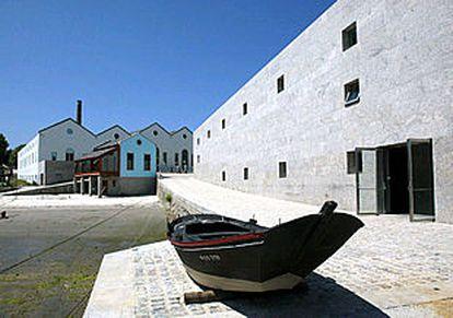 Una vista del Museo del Mar de Galicia, en Vigo, de los arquitectos Aldo Rossi y César Portela.