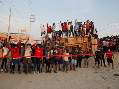 Trabajadores del sector agrícola protestan en la carretera de Panamericana, el pasado 2 de diciembre.