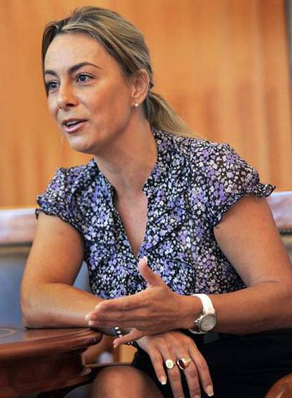 Sonia Castedo, alcaldesa de Alicante, durante la entrevista.