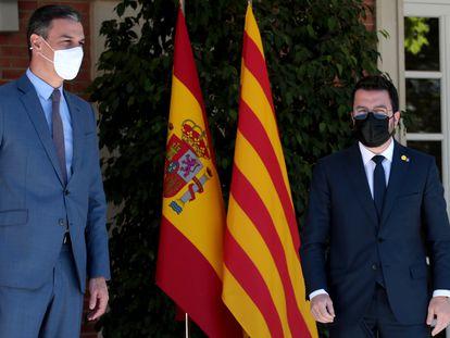 Sánchez y Aragonès el 29 de mayo en La Moncloa.