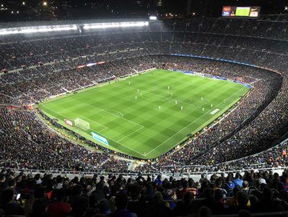 El Camp Nou, durante el clásico del pasado 18 de diciembre.