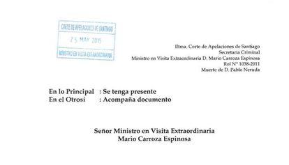 Encabezado del documento del Ministerio del Interior de Chile.