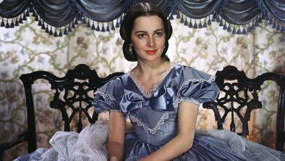 Olivia de Havilland, como Melania en 'Lo que el viento se llevó'.