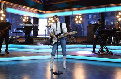 La cantante Camila Cabello el pasado 12 de enero, en un programa de la ABC estadounidense.