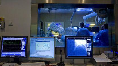 Servicio de hemodinámica del hospital Virgen Macarena de Sevilla