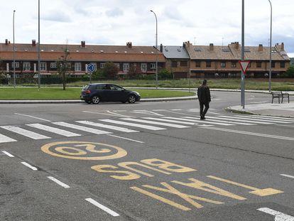 Zona de aparcamientos de León donde se produjo la reyerta.