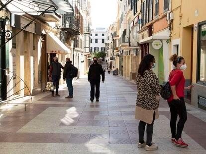 Centro de Mahón, en Menorca, la semana pasada.