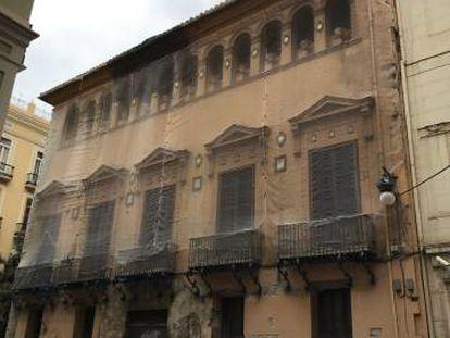 Palacio de los Valeriola, en la calle del Mar de Valencia.