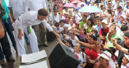 Chinchilla, en un acto contra Ortega en agosto.