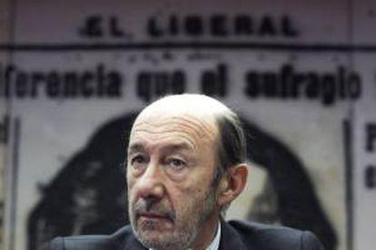El secretario general del PSOE, Alfredo Pérez Rubalcaba. EFE/Archivo