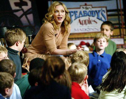Madonna durante la presentación de uno de sus libros para niños.