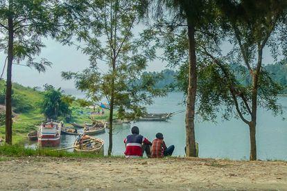 Orillas del Lago Kivu, en Kibuye, Ruanda.