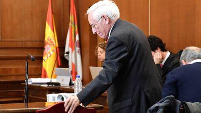 El expresidente de Caja Segovia Atilano Soto, En la Audiencia Provincial de Segovia, en febrero pasado.