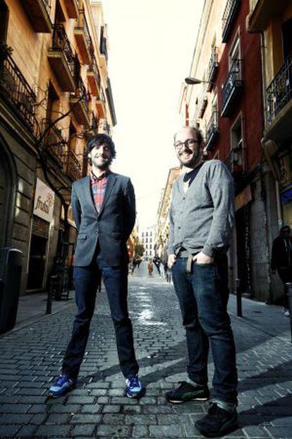 Diego San José y Borja Cobeaga (derecha), el miércoles pasado en Madrid.