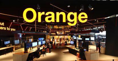 Stand de Orange en el MWC19 de Barcelona.
