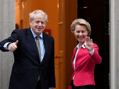 La última reunión cara a cara de Johnson y Von der Leyen, en Londres, el 20 de enero.