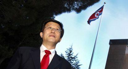 El embajador de Corea del Norte en Madrid, Kim Hyok-Chol.