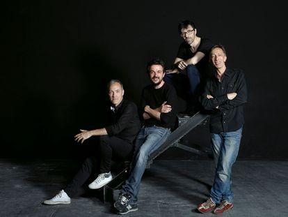 Miguel del Arco, Jordi Buxó, Israel Elejalde y Aitor Tejada, impulsores del proyecto El Pavón Teatro Kamikaze.