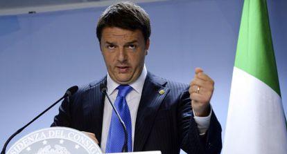 Matteo Renzi, durante la cumbre europea del 27 de junio.