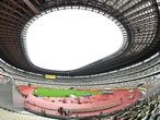 TOKYO, JAPAN - AUGUST 23: A general view of the National Stadium during the Seiko Golden Grand Prix at the National Stadium on August 23, 2020 in Tokyo, Japan. (Photo by Atsushi Tomura/Getty Images)