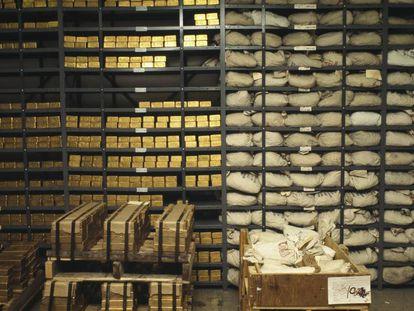 Lingotes de oro de un banco de Nueva York.