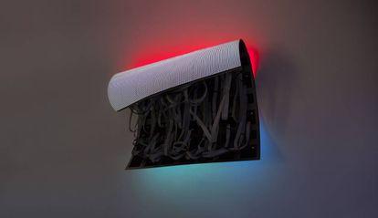 Una de las obras en la exposición 'Echo', de Daniel Canogar.