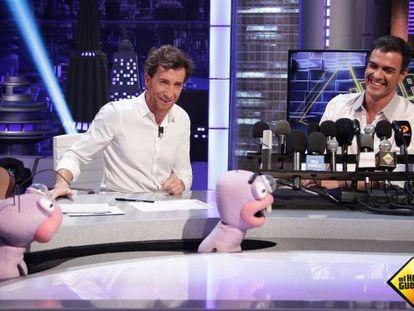 Pedro Sánchez en 'El Hormiguero' junto a Pablo Motos.