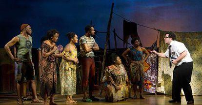 Un momento del musical 'El libro del mormón', la otra ganadora de la noche.